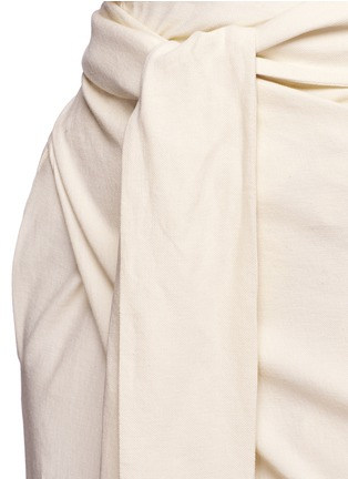 Detail View - Click To Enlarge - ERIKA CAVALLINI - 'Asami' cotton-linen wrap pants