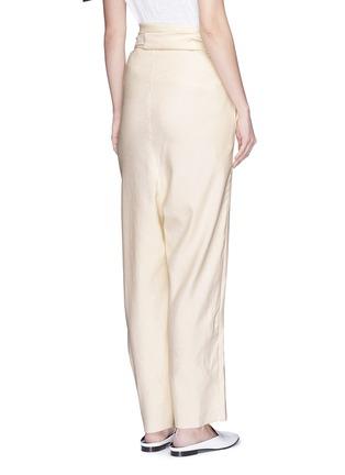 Back View - Click To Enlarge - ERIKA CAVALLINI - 'Asami' cotton-linen wrap pants