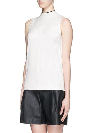 Front View - Click To Enlarge - rag & bone - 'Edie' mock neck crepe top
