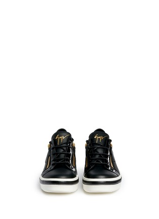 Front View - Click To Enlarge - Giuseppe Zanotti Design - 'Ace' low top leather sneakers