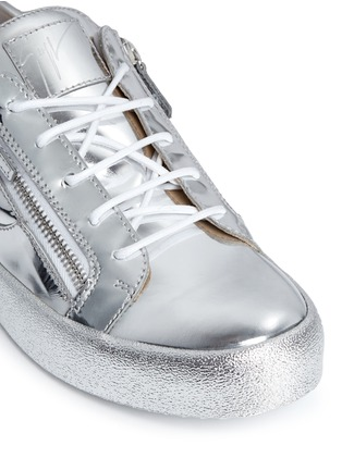 Detail View - Click To Enlarge - Giuseppe Zanotti Design - 'May London' metallic leather slip-on sneakers