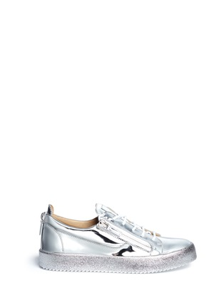 Main View - Click To Enlarge - Giuseppe Zanotti Design - 'May London' metallic leather slip-on sneakers