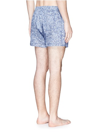 Back View - Click To Enlarge - Sunspel - Seasonal stripe paisley print boxer shorts