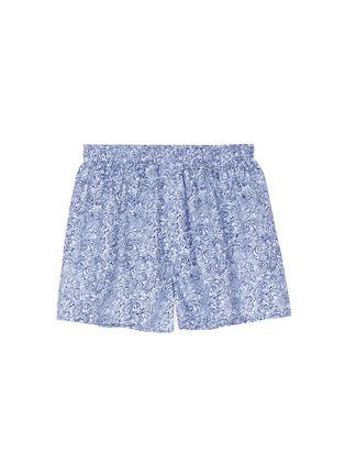 Main View - Click To Enlarge - Sunspel - Seasonal stripe paisley print boxer shorts
