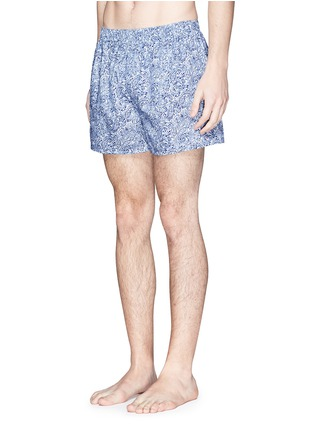 Figure View - Click To Enlarge - Sunspel - Seasonal stripe paisley print boxer shorts