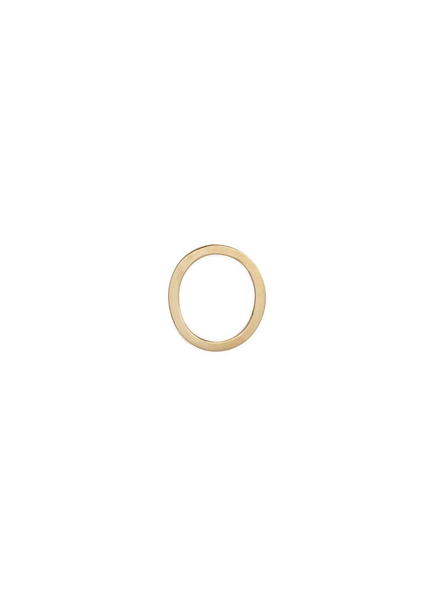 LOQUET LONDON 'O' 14K Yellow Gold Single Stud Earring – Give A Hug