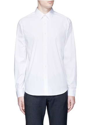 Main View - Click To Enlarge - THEORY - 'Sylvain' stretch poplin shirt