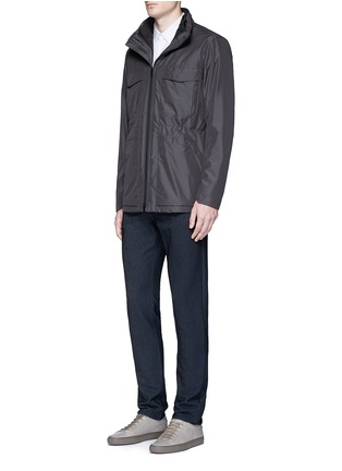 Figure View - Click To Enlarge - Theory - 'Sylvain' stretch poplin shirt