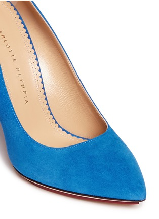 Detail View - Click To Enlarge - Charlotte Olympia - 'Monroe' suede platform pumps