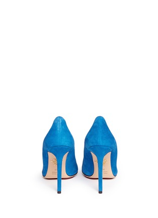 Back View - Click To Enlarge - CHARLOTTE OLYMPIA - 'Monroe' suede platform pumps