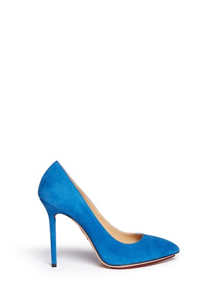 Main View - Click To Enlarge - Charlotte Olympia - 'Monroe' suede platform pumps