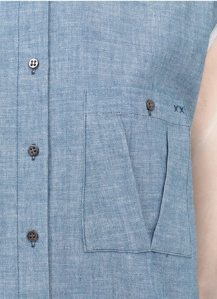 Detail View - Click To Enlarge - Elizabeth and James - Sheer-back denim shirt
