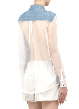 Back View - Click To Enlarge - Elizabeth and James - Sheer-back denim shirt
