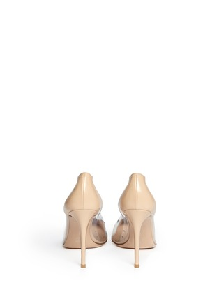 Back View - Click To Enlarge - GIANVITO ROSSI - Clear PVC patent leather pumps