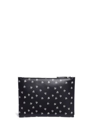 Back View - Click To Enlarge - Lanvin - 'Pool Spider' print medium leather zip pouch