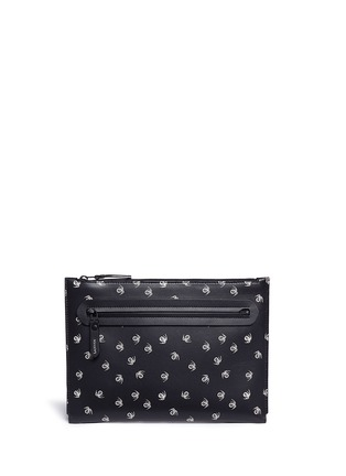 Main View - Click To Enlarge - LANVIN - 'Pool Spider' print medium leather zip pouch