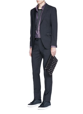Figure View - Click To Enlarge - Lanvin - 'Pool Spider' print medium leather zip pouch