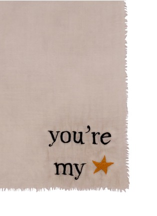 Detail View - Click To Enlarge - FALIERO SARTI - 'You're My' embroidery wool-silk scarf