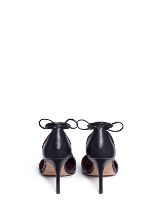 Back View - Click To Enlarge - Coach - 'Shae' leather lace-up d'Orsay pumps