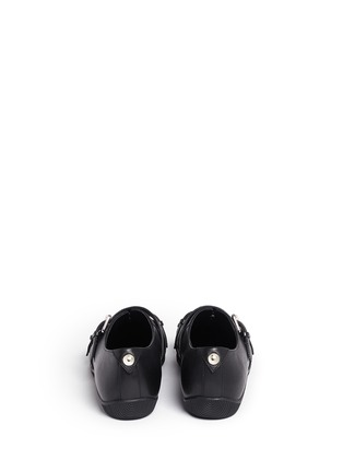 Back View - Click To Enlarge - Opening Ceremony - 'Novva' buckled strappy leather flats