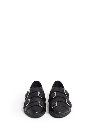 Front View - Click To Enlarge - Opening Ceremony - 'Novva' buckled strappy leather flats
