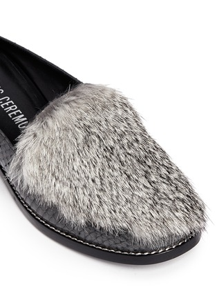 Detail View - Click To Enlarge - Opening Ceremony - 'Nebulla' water snakeskin panel leather mules