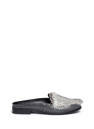 Main View - Click To Enlarge - Opening Ceremony - 'Nebulla' water snakeskin panel leather mules