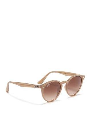 Figure View - Click To Enlarge - RAY-BAN - 'RB2180' keyhole bridge acetate round sunglasses
