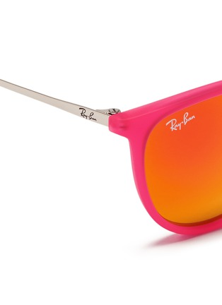 Detail View - Click To Enlarge - RAY-BAN - Izzy' rubberised nylon mirror kids sunglasses