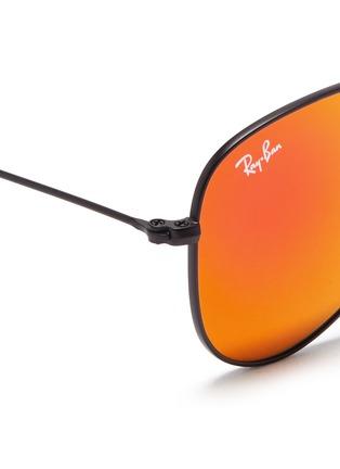 Detail View - Click To Enlarge - Ray-Ban - Aviator Junior' metal mirror sunglasses