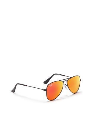 Figure View - Click To Enlarge - Ray-Ban - Aviator Junior' metal mirror sunglasses