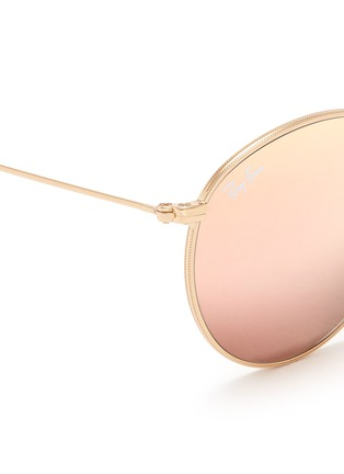 Detail View - Click To Enlarge - Ray-Ban - 'Round Metal Folding' mirror sunglasses