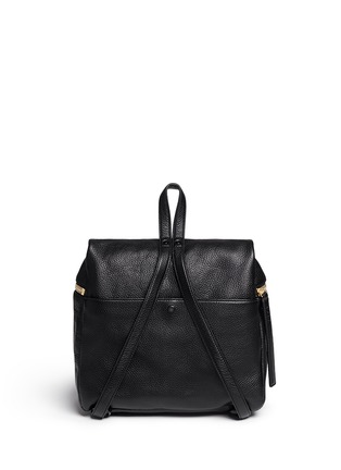 Back View - Click To Enlarge - Kara - Pebbled leather backpack