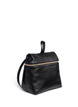 Front View - Click To Enlarge - Kara - Pebbled leather backpack