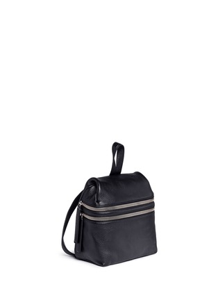 Front View - Click To Enlarge - Kara - Small double zip leather backpack