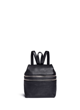 Main View - Click To Enlarge - Kara - Small double zip leather backpack
