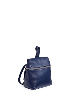 Front View - Click To Enlarge - Kara - Small pebbled leather backpack