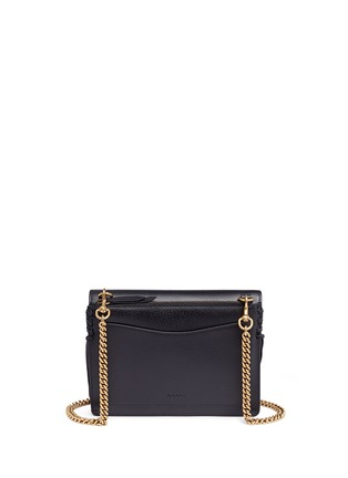 Back View - Click To Enlarge - Gucci - 'Animalier' tiger head web leather shoulder bag