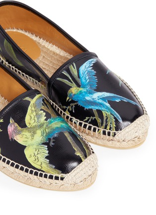 Detail View - Click To Enlarge - Gucci - 'Shanghai Tropical' floral print leather espadrilles
