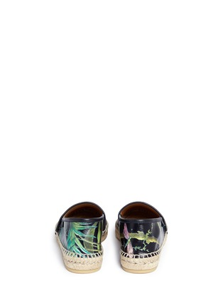 Back View - Click To Enlarge - Gucci - 'Shanghai Tropical' floral print leather espadrilles