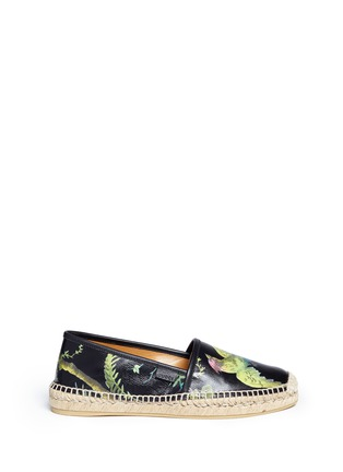 Main View - Click To Enlarge - Gucci - 'Shanghai Tropical' floral print leather espadrilles