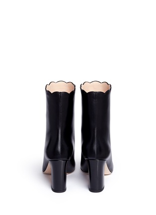 Back View - Click To Enlarge - Gucci - Faux pearl scalloped cuff leather boots