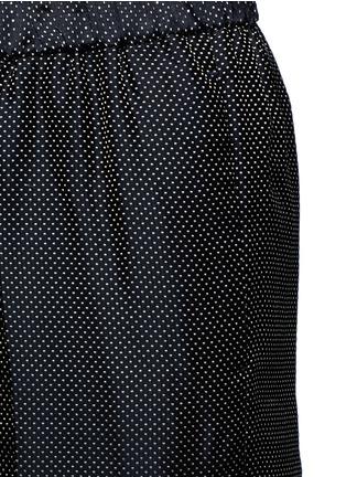Detail View - Click To Enlarge - Dries Van Noten - 'Palmira' metallic jacquard elastic waist pants