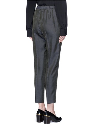 Back View - Click To Enlarge - Dries Van Noten - 'Palmira' metallic jacquard elastic waist pants