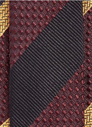 Detail View - Click To Enlarge - Dries Van Noten - Regimental stripe silk jacquard tie