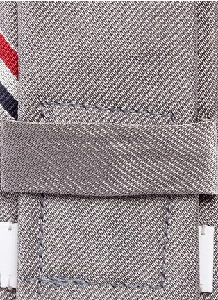 Detail View - Click To Enlarge - Thom Browne - 'Hector' stripe jacquard silk tie
