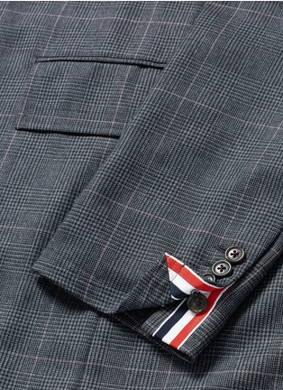 Detail View - Click To Enlarge - Thom Browne - Glen plaid hairline overcheck wool coat