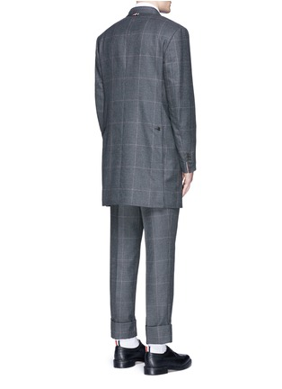 Back View - Click To Enlarge - Thom Browne - Glen plaid hairline overcheck wool coat
