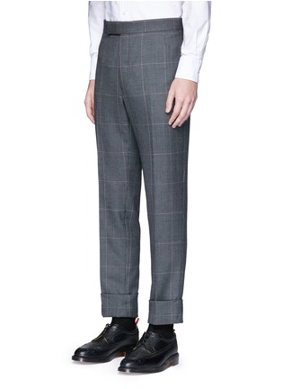 Detail View - Click To Enlarge - Thom Browne - Glen plaid hairline overcheck wool suit
