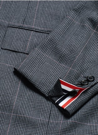 - THOM BROWNE - Glen plaid hairline overcheck wool suit